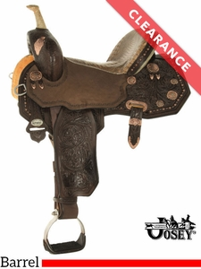 """SOLD 2017/09/25  14"""" Circle Y Martha Josey Ultimate Legend Wide Barrel Saddle 1197 CLEARANCE"""