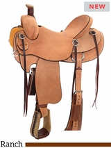 "** SALE ** 14"" to 16.5"" Reinsman Association Ranch Saddle 4616 w/$210 Gift Card"