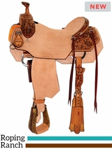 "** SALE ** 14"" to 16.5"" Reinsman Ranch Roper Saddle 4615 w/$210 Gift Card"