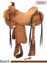 "** SALE ** 14"" to 16.5"" Reinsman Will James Association Ranch Saddle 4618 w/$210 Gift Card"