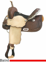 "** SALE ** 14"" to 16"" Billy Cook Spotted Feather III Barrel Saddle 291206"