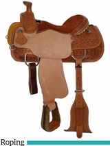 "14"" to 16"" Circle Y Wyoming Flower Tooled Roping Saddle 2779 w/$210 Gift Card"