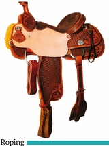 "DISCONTINUED 14"" to 16"" Reinsman Team Roper Saddle 4406"
