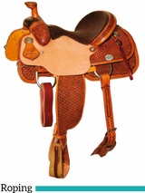 "DISCONTINUED 14"" to 16"" Reinsman Team Roper Saddle 4407"
