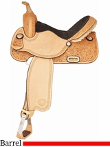 "14"" to 16"" Tex Tan Run for the Money Barrel Saddle 292216"