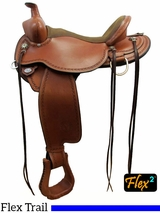 "14"" to 17"" Circle Y Birdseye Flex2 Trail Saddle 1670 w/$105 Gift Card"