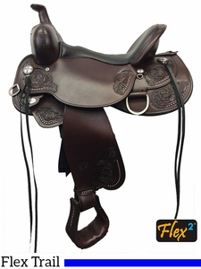 "** SALE ** 14"" to 17"" Circle Y Clearwater Flex2 Trail Saddle 2379 w/$105 Gift Card"