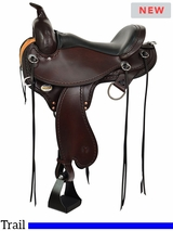 """14"""" to 17"""" Circle Y Tennessee Gaited Trail Saddle Flex2 1590"""