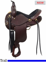 "** SALE ** 14"" to 17"" South Bend Saddle Co ""Elkhart Eagle"" Trail Saddle 1002"