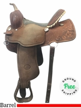 "14"" Used Billy Cook Wide Barrel Saddle 1415 usbi4056 *Free Shipping*"