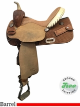 "14"" Used Billy Cook Wide Barrel Saddle 1524 usbi3898 *Free Shipping*"