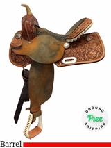 "14"" Used Billy Cook Wide Barrel Saddle 1902 usbi4121 *Free Shipping*"