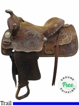 "14"" Used Billy Cook Wide Vintage Trail Saddle usbi3518 *Free Shipping*"