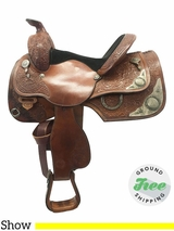 "14"" Used Circle Y Medium Equitation Saddle 9671 uscy3599 *Free Shipping*"