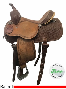 "14"" Used Martin Saddlery Sherry Cervi Medium Barrel Racer usmr3851 *Free Shipping*"