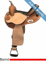 "PRICE REDUCED! 14"" Used Nash Leather Wide Barrel Saddle 304019, Floor Model"