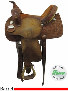 "14"" Used Reinsman Wide Barrel Saddle usrs3537 *Free Shipping*"