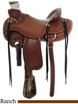 "** SALE ** 15"" to 17"" Circle Y Elko Ranch Saddle 1343"