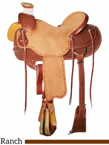 """DISCONTINUED 15"""" to 17"""" Reinsman Wade Ranch Saddle 4602"""