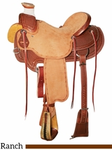 "DISCONTINUED 15"" to 17"" Reinsman Wade Ranch Saddle 4602"