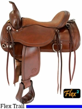 "15"" to 18"" Circle Y Topeka Flex2 Trail Saddle 1651 w/$105 Gift Card"
