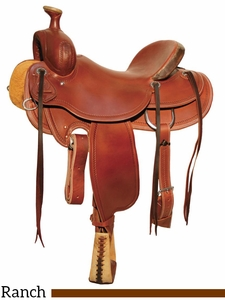 "DISCONTINUED 15"" to 18"" Circle Y Outfitter Ranch Saddle 1125"