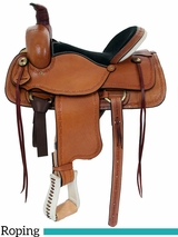 "15"" to 17"" American Saddlery Hoss High Roper Saddle 1635"