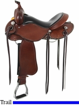 "15"" to 17"" Cashel Trail Saddle, Reg or Wide Tree"