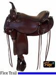 "** SALE ** 15"" to 18"" Circle Y Omaha Flex2 Trail Saddle 1554"