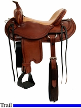 "15"" to 17"" Dakota Draft Horse Trail Saddle 214"