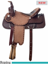 "** SALE ** 15"" to 17"" Dakota Roping Saddle 556"