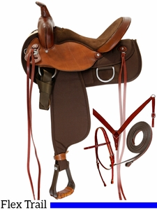 "** SALE ** 15"" to 17"" Fabtron Lady Flex Trail Saddle 7152p 7154p Package w/$55 Gift Card"