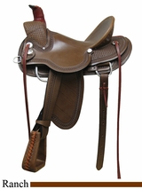 "15"" 16"" 17"" Rocking R A Fork Ranch Saddle 739"