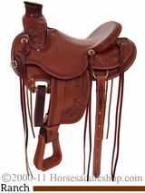 "15"" 16"" 17"" Rocking R Wade Tree Ranch Saddle rr1737"