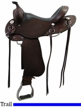 "** SALE ** 15"" to 17"" Roughout Cashel Trail Saddle, Reg or Wide Tree"