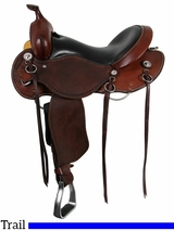 """** SALE ** 15"""" to 17"""" Roughout Cashel Trail Saddle, Reg or Wide Tree"""