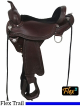 "15"" to 18"" Circle Y Sheridan Flex2 Trail Saddle 1572 w/Free Pad"