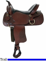 "** SALE ** 15"" 16"" American Saddlery Deluxe Enduro Trail Saddle 1383 1384"