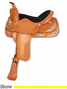 """15"""" 16"""" American Saddlery Texas Best Spotted Show Saddle 1360"""