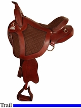 "15"" 16"" Big Horn Quilted Nylon Trail Saddle 8102"