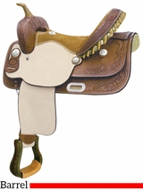"** SALE ** 15"" Billy Cook Flex Feather Barrel Saddle 291251"