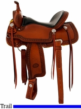 "** SALE ** 15"" to 17"" Billy Cook Trail Saddle 1538"