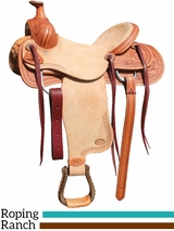 "15"" 16"" Courts Saddlery Ranch/Roping Saddle 2607MAN"