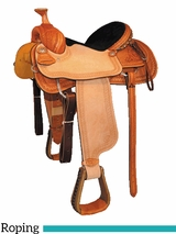 "15"" 16"" Courts Saddlery Roping Saddle 1573ZAN"