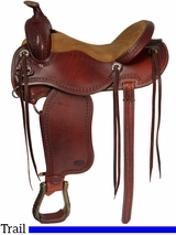 "** SALE ** 15"" 16"" Courts Saddlery Trail Saddle 8716VB"