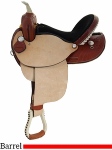 "** SALE ** 14"" to 16"" Dakota Oak Leaf Barrel Racing Saddle 300"