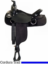 "** SALE ** 15"" 16"" Fabtron Black Synthetic Saddle 7109 7111"