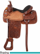 "15"" to 16"" Silver Royal Rising Star Calf Roper Saddle 300"