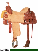 "DISCONTINUED 15.5"" to 17"" Reinsman Cowhorse Saddle 4820"