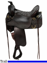 "14.5"" to 18.5"" High Plains Tucker Trail Saddle 260 w/Free Pad"